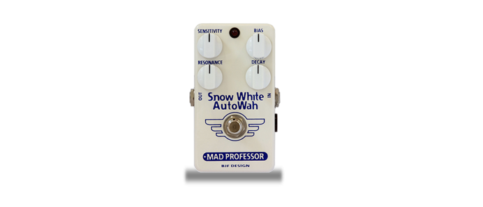 Snow White Auto Wah Factory Made Pedal