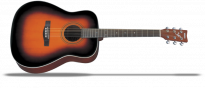 F370 Brown Sunburst Westerngitarre