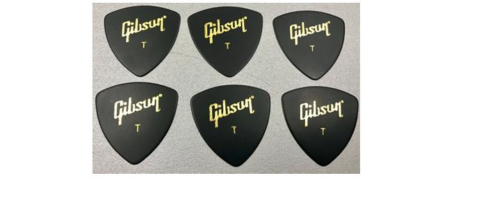 6 Gibson Wedge Picks Thin Plektrum