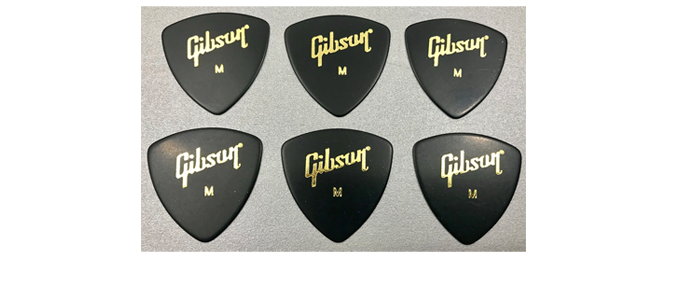 6 Gibson Wedge Picks Medium Plektrum