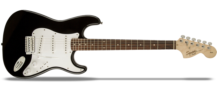 Affinity Series Stratocaster SSS RW Black