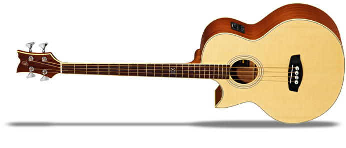 D1-4LE Linkshänder Akustik Bass 4 Saiter