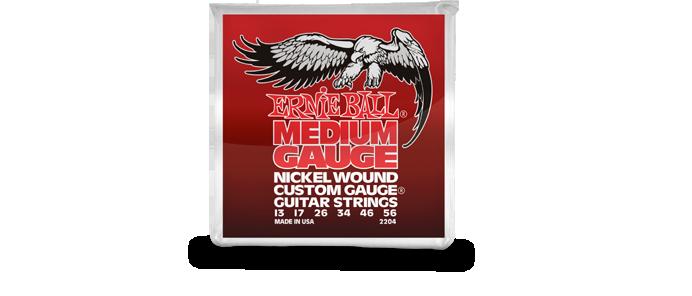 Medium Gauge Nickel Wound Custom Gauge 2204