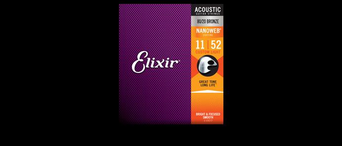 11027 Custom Light 80/20 Nanoweb 11-52 Akustik Gitarrensaiten