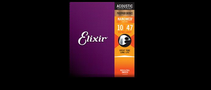 16002 Extra Light Phosphor Bronze Nanoweb 10-47 Akustik Gitarrensaiten