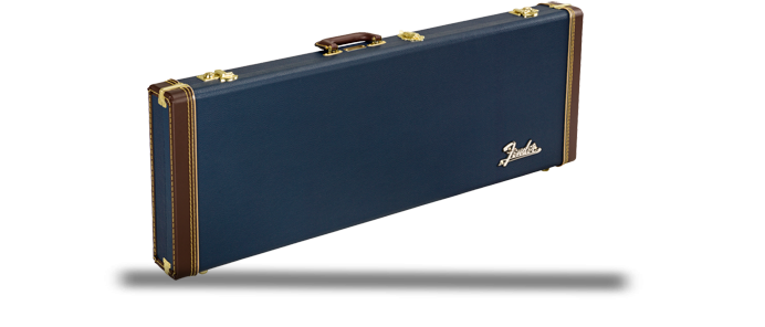 Classic Series Wood Case Koffer Stratocaster Telecaster Navy Blue