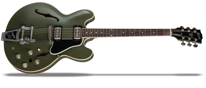 Chris Cornell ES-335 Tribute Signature Olive Drab Green