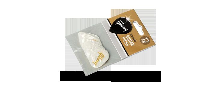 White Pearl Picks Medium 12 Pack
