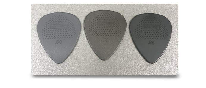 3x Max Grip Standard Guitar Picks Mix
