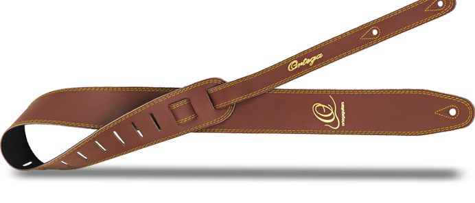 OSL2-85BR Guitar Strap Leather Brown