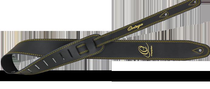 OSL2-85BK Guitar Strap Leather Black