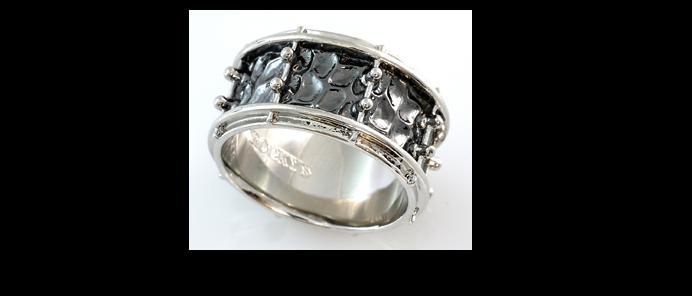 Snare Drum Ring Größe 62