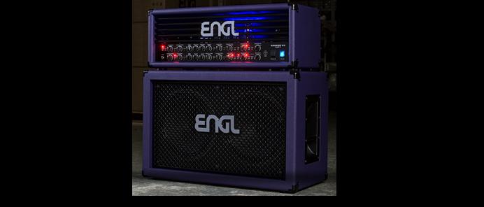 Custom Shop Savage 60 MK II Head Purple Bronco + E212VB Pro Cabinet Purple Bronco