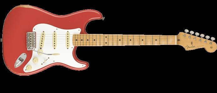 Vintera Road Worn Stratocaster SSS MN FRD Fire Red