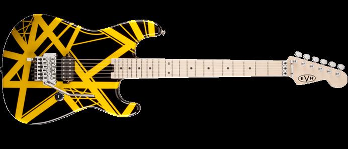 Striped Series Black / Yellow E-Gitarre