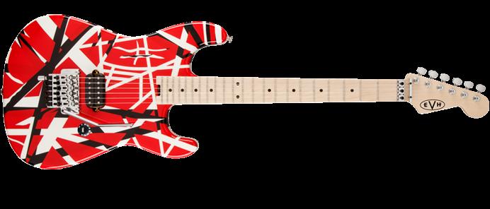 Striped Series Red / White / Black E-Gitarre