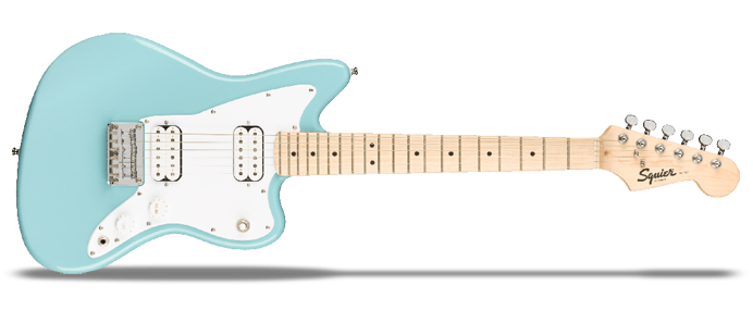 Mini Jazzmaster HH Daphne Blue 3/4 Kinder E-Gitarre