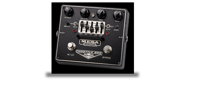 Throttle Box EQ Dual Distortion-Pedal mit 5-Band EQ