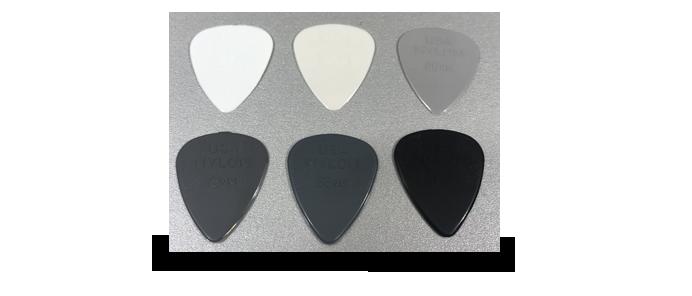 6x Nylon Guitar Picks Mix