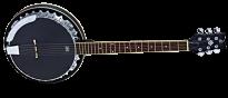OBJE350 6-SBK Black Banjo