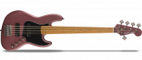 FSR Contemporary Active Jazz Bass HH V  Burgundy Satin