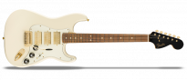 Limited Edition Mahogany Blacktop Stratocaster Olympic White Gold Hardware