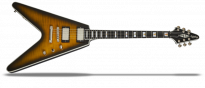 Flying V Prophecy - Yellow Tiger Aged Gloss Fishman E-Gitarre