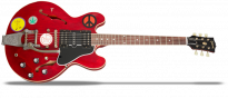 Alvin Lee Big Red ES 335 Cherry Aged Bigsby