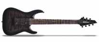 JS Series Dinky Arch Top JS22Q-7 DKA HT Transparent Black Burst