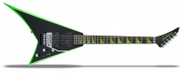 X Series Rhoads RRX24 Black with Neon Green Bevels
