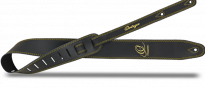 OSL2-85BK Guitar Strap Leather Black