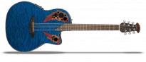 Celebrity Elite Exotic CE44P-8TQ Mid Depth Caribbean Blue On Exotic Quilted Maple