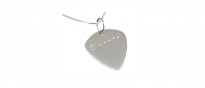 Silver Plectrum Sheet Music Kette