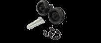 Straplok Flush Mount SLS1403BK Sicherheits-Gurthalter