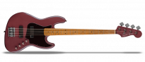 FSR Contemporary Active Jazz Bass HH Burgundy Satin
