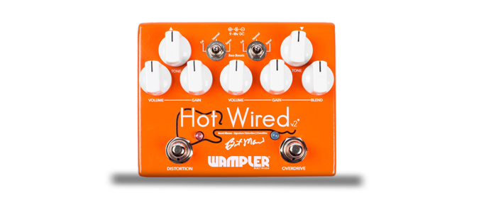 Hot Wired V2 Overdrive/ Distortion Brent Manson Signature